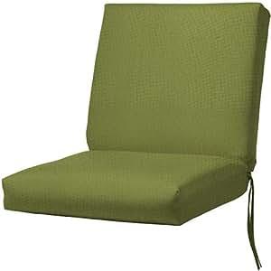 "Bullnose Seat / back Outdoor Chair Cushion, 4""Hx22""Wx40""D, CILANTRO SUNBRE"