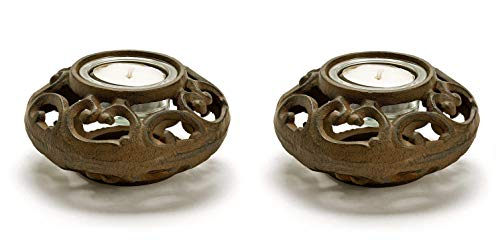 Cast Iron Filigree - Party Explosions Cast Iron Filigree Votive Candle Holders - Set of 2