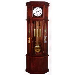 Sofian Cherry Curio Grandfather Clock