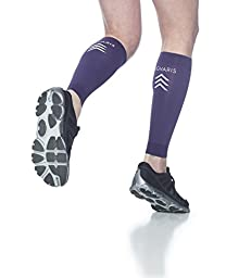 Sigvaris Compression Running Leg Calf Sleeves for Men and Women, Purple (Medium)