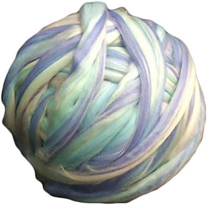 Super Chunky Yarn, Acrylic Bulky Thick Roving Washable Softee Chunky Yarn For Arm Knitting Do It Yourself Handmade Blankets