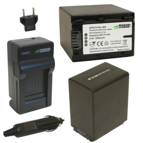 Wasabi Power Battery (2-Pack) and Charger for Sony NP-FV1...