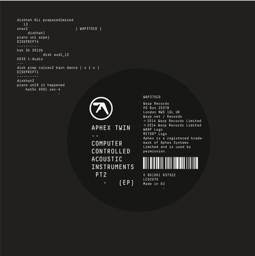 APHEX TWIN - COMPUTER CONTROLLED ACOUSTIC INSTRUMENTS PT 2 (EP)