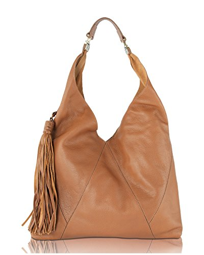 Boho-Chic Vacation & Fall Looks - Standard & Plus Size Styless - Steve Madden Saddle BMargaux Tassel Hobo Shoulder Bag