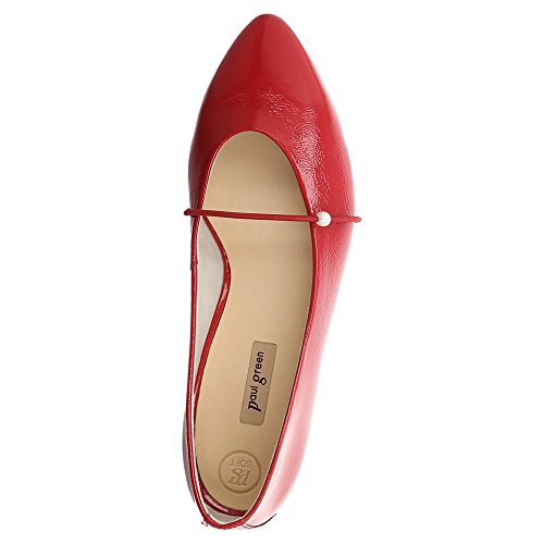 Paul Green Ballerina | Paul Grøn Ballerina | Lackleder - Rød | Lackleder - Rød | Scarlet Rød Scarlet Rød mDwGH15M