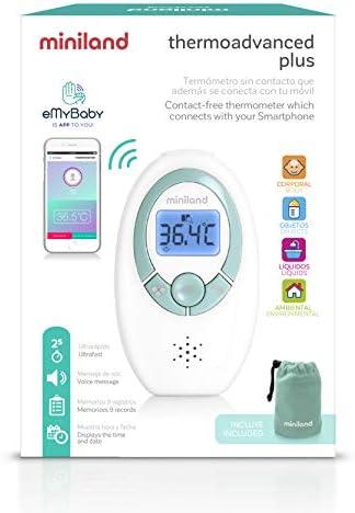 MINILAND - Termómetro sin contacto rápido y fiable que se comunica con tu smartphone.: Amazon.es: Bebé