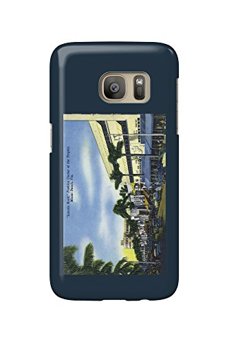 Miami Beach, Florida - View down Lincoln Road (Galaxy S7 Cell Phone Case, Slim Barely - Lincoln Miami Road Beach