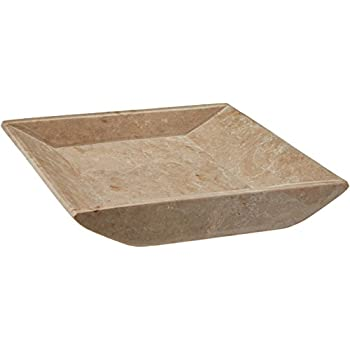 Creative Home Natural Champagne Marble Square Boat Shaped Vanity Tray