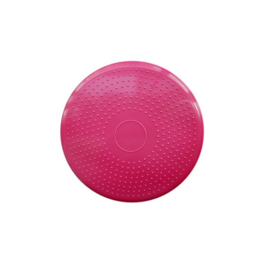Apple Round Global Trading LLC Air Stability Wobble Cushion, Pink, 35cm/14in Diameter, Balance Disc, Pump Included