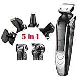 nickle cadmium battery - Shaver 6 in 1 Electric Waterproof Rechargeable Cutter Electric Hair Clipper Nose Hair Trimmer for Adult and Child Use