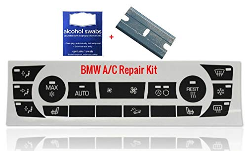 BMW AC Repair Kit for Worn Faded A/C Control Buttons Fits Most 328i 335i 325i 335xi BMW 3 Series Model Accessories