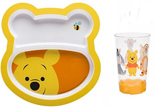 Why Choose Winnie the Pooh Kids Dinning Set, 2 Cups and 2 Plates