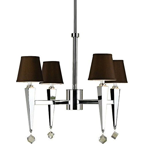 AF Lighting 6687 4-Light Chandelier- Chocolate Shades Candice Olson Chandelier Light