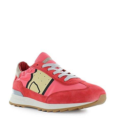 Philippe Model Damen PSLDB017 Rot Leder Sneakers