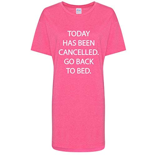 Babydoll Pink 60 a Slogan cama Sleepwear Makeover la ha se Hoy Second cancelado Christmas Mujeres Limited Volver BAHqUw7B