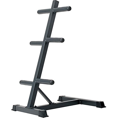 Marcy Olympic Weight Plate Tree Compact Exercise Equipment Storage Rack for 2-inch Weight Plates PT-45 by Marcy