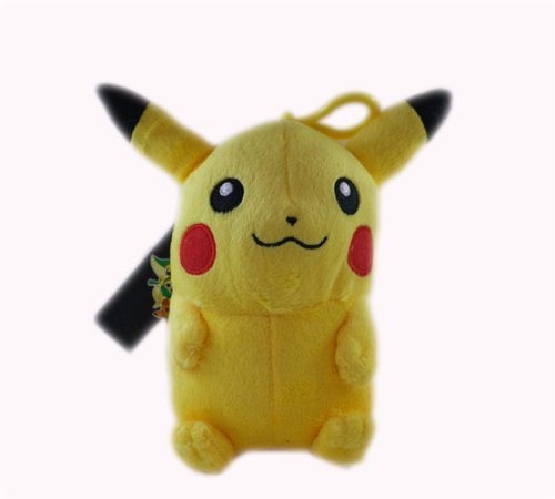 Pokemon Black and White Pikachu Clip On 7″ Plush Doll, Baby & Kids Zone