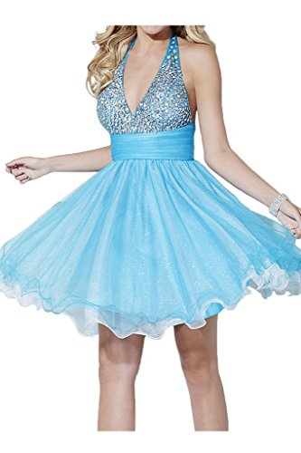 Bride Angel Dress Cocktail Beaded Bust Party Blue Prom Sexy Halter Backless qdpwBPCd