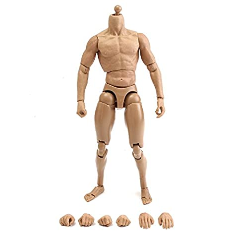 CynKen 1/6 Scale Action Figure Male Nude Muscular Body 12