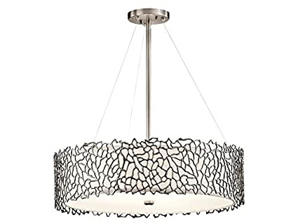 Kichler 43347clp silver coral chandelierpendant 4 light classic kichler 43347clp silver coral chandelierpendant 4 light classic pewter aloadofball Gallery