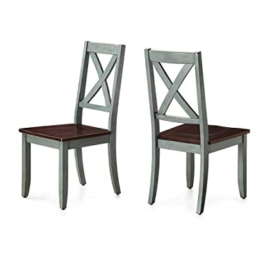 Sturdy Better Homes and Gardens Maddox Crossing Dining Chair, Blue, Set of 2