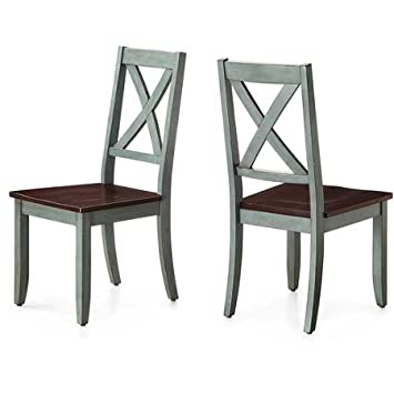 Sturdy Better Homes and Gardens Maddox Crossing Dining Chair - Blue - Set of 2