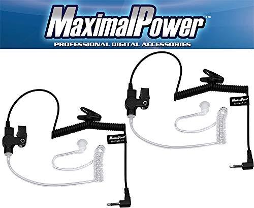 - MaximalPower RHF 617-1N X2 3.5mm Receiver/Listen Only Surveillance Headset Earpiece, 2 Pack