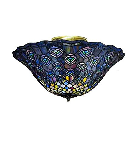 "Meyda Tiffany 27435 Peacock Feather Flush Mount Light Fixture, 16"" Width from Meyda Tiffany"