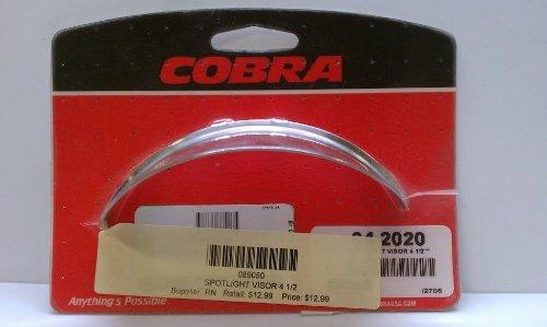 Cobra Chrome Spotlight Visor 4 1/2