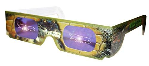 Holographic Crocodile Wild Eyes 3D Paper - Eyewear Crocodile