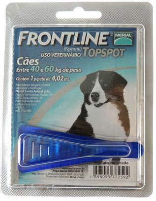 Antipulgas e Carrapatos Frontline Topspot Cães de 40kg - 1 unidade