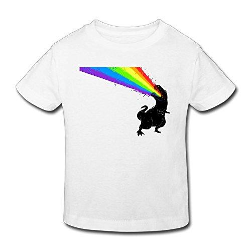 (KissKid Dinosaur Rainbow Kids Short Sleeve Tshirt 4 Toddler)