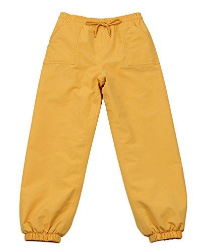 (JAN & JUL Kids Water-Proof Soil-Repellent Rain Pants (Single Layer: Yellow, 2T) )
