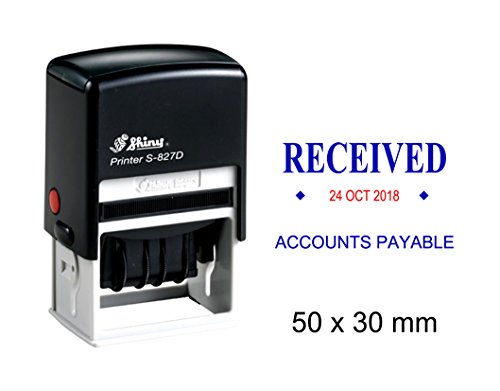 - Self Inking Shiny Date Stamp With Received & Accounts Payable Ofiice Stationery Rubber Stamper S-827D