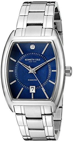 Kenneth Cole New York Men's 10014806 Genuine Diamond Analog Display Japanese Quartz Silver Watch