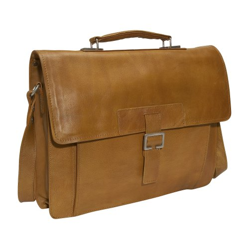 Scully Hidesign by Scully - Temple Briefcase (Honey)