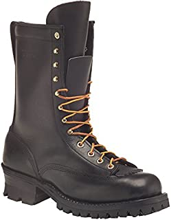 product image for HATHORN Mens Explorer Lace-to-Toe Logger Boots, 11.5