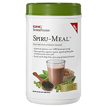 Amazon.com: GNC Superfoods spiru-mealtm, Chocolate, 32.3 oz ...