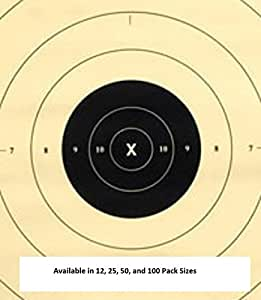 25 Yard Timed and Rapid Fire Repair Center Pistol Target Official NRA Target B-8(CT) (12 Pack)