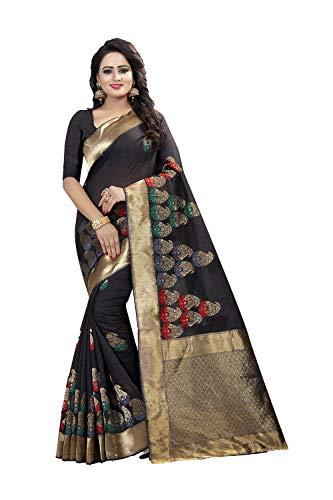 Da Facioun Saris Indiens Femmes Concepteur Partywear Sari Noir Ethnique Traditionnel.