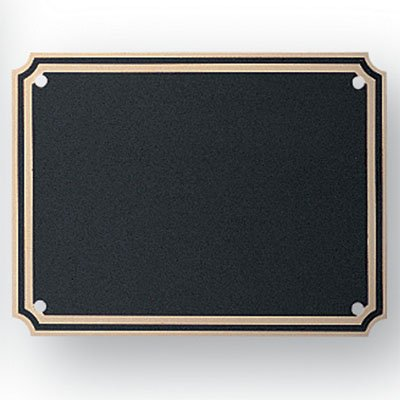 3 X 4 Inch Plaque Plate Black Screened Brass - Package of 4