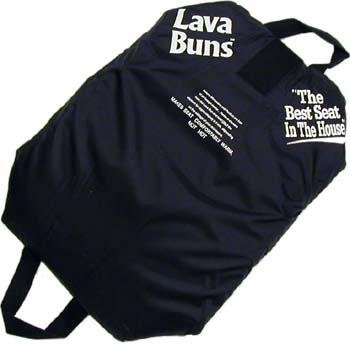 Lava Buns Portable Seat Cushion with Microwavable/Freezable Gel Packs