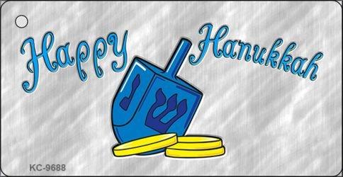 Pride Plates Happy Hanukkah Dreidel Novelty Aluminum Key Chain KC-9688