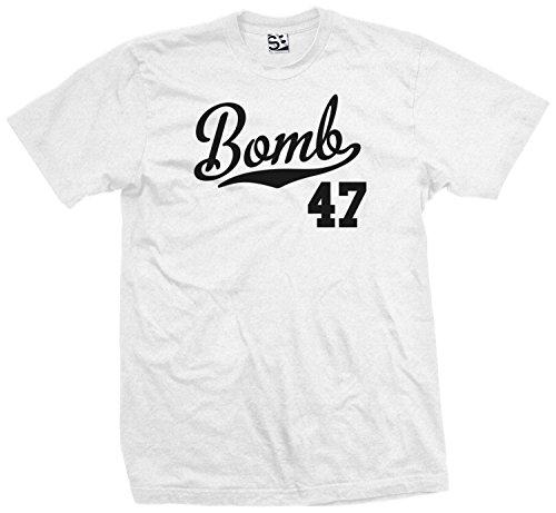 - Shirt Boss Unisex Bomb 47 Script & Tail T-Shirt 5XL Ash Grey / Black
