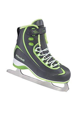 Riedell 625 2015 Model Figure Skates Soar (Gray/Lime, (Ice Skates Size 12 Kids)