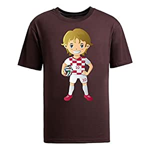 Custom Mens Cotton Short Sleeve Round Neck T-shirt,2014 Brazil FIFA World Cup UP71 brown by runtopwell