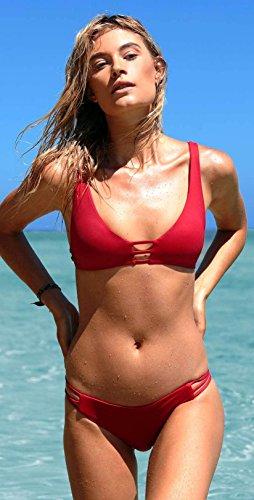 L*Space Kennedy Bikini Bottom - Women's Lipstick Red, (Monroe Bikini Bottom)