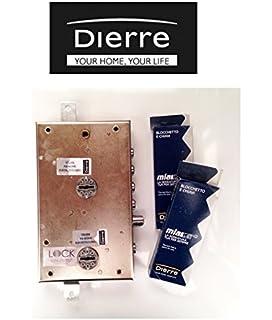 Cerraduras Atra dierre para puertas blindadas de sobreponer con doble cerradura de seguridad, entrada 70 mm…