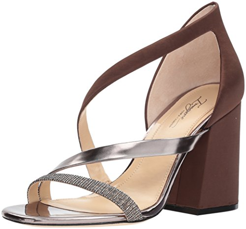 - Imagine Vince Camuto Women's Abi Heeled Sandal, Dark Chocolate, 7.5 Medium US