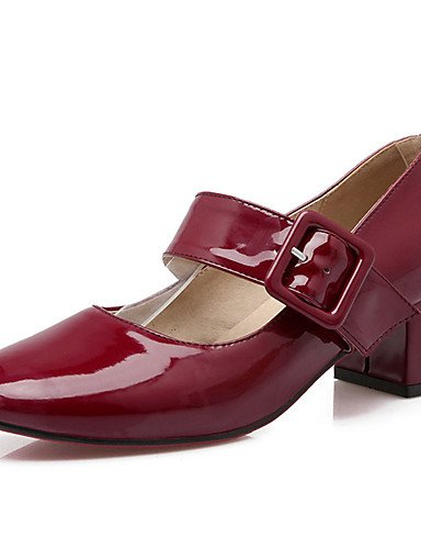 punta ocasional de 5 us10 rojo talones us10 redonda gray uk8 las nbsp;noche GGX gray talón zapatos vestido parte cn37 charol eu37 uk4 5 5 de talones negro 5 7 cn43 5 YHUJI de amp; us6 cn43 5 gruesos mujeres eu42 uk8 eu42 5 red wzxU8qFC